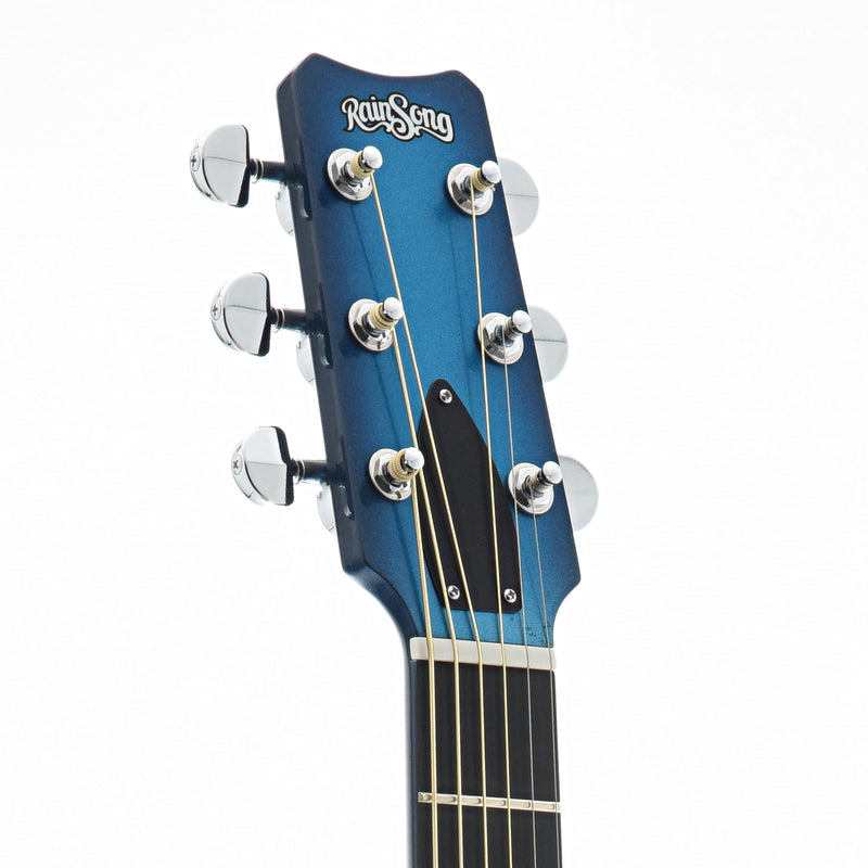 Rainsong Concert Series WS Short Scale Guitar with Pickup & Case, Marine Blue