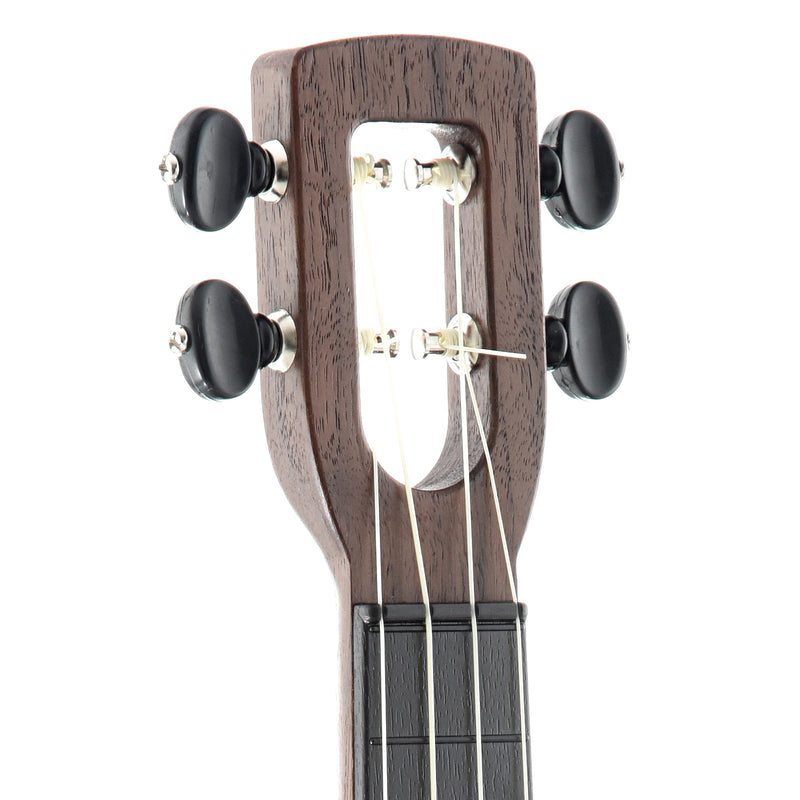 Magic Fluke Company Flea Ukulele, Soprano, Lava Black Finish with Gigbag