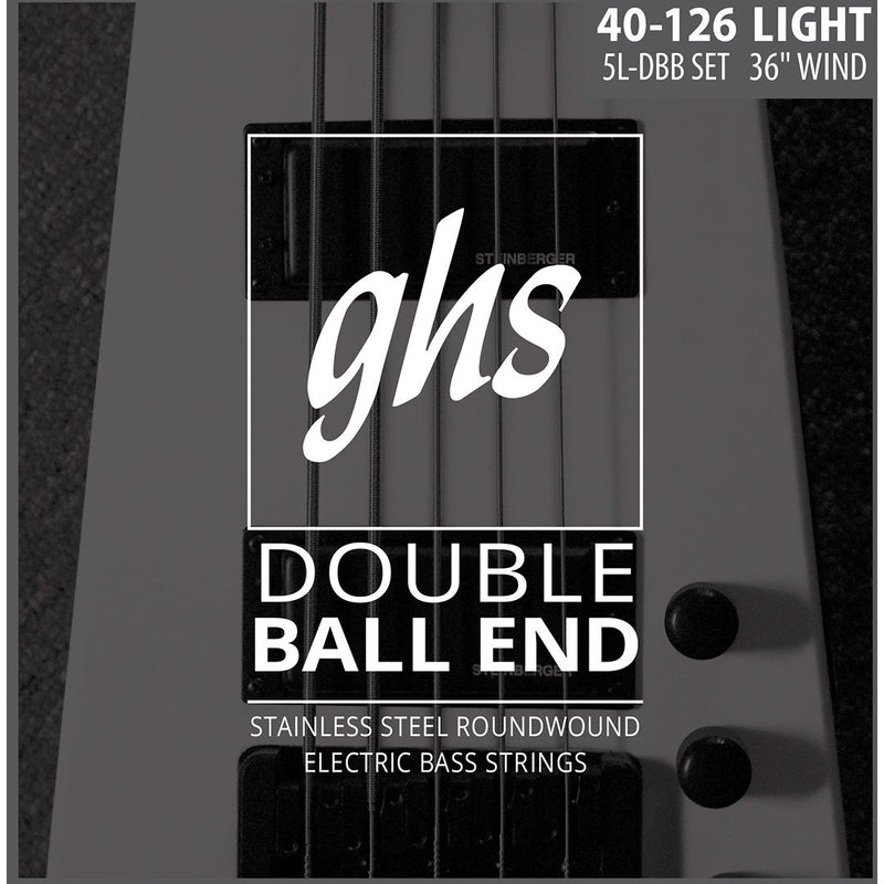 GHS 5L-DBB Double Ball End Stainless Steel Light Gauge 5-String Electric Bass Strings