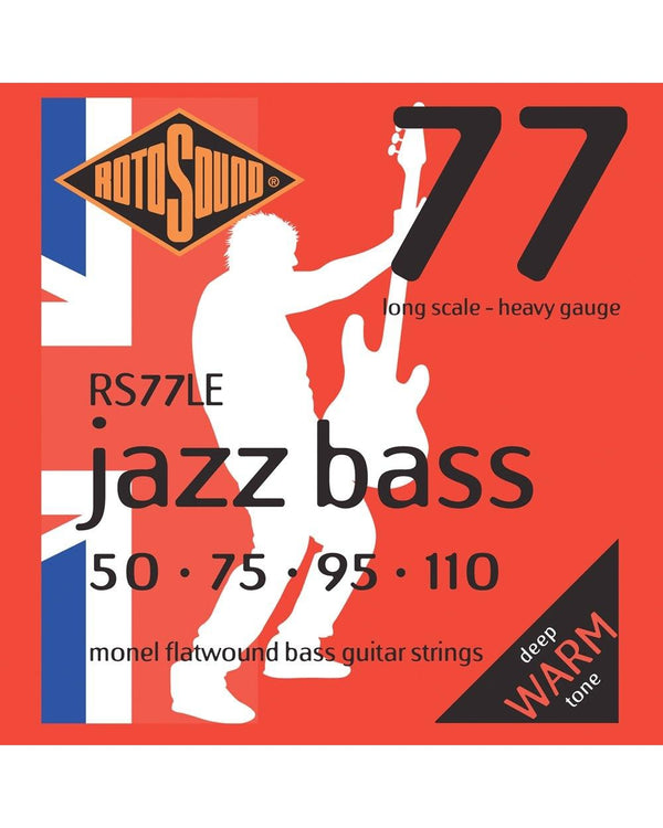 Rotosound RS77LE Jazz Bass 77 Heavy Gauge Flatwound Electric Bass Strings