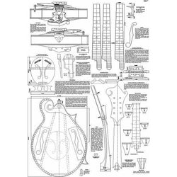 Gibson Lloyd Loar F-5 Mandolin Plans - Version 4