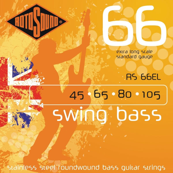 Rotosound RS66EL Swing Bass 66 Standard Gauge Electric Bass Strings