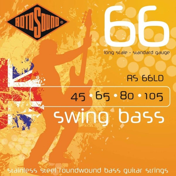 Rotosound RS66LD Swing Bass 66 Medium Gauge Electric Bass Strings