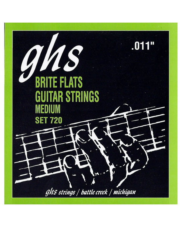 GHS 720 Brite Flats Nickel/Iron Medium Electric Guitar Strings