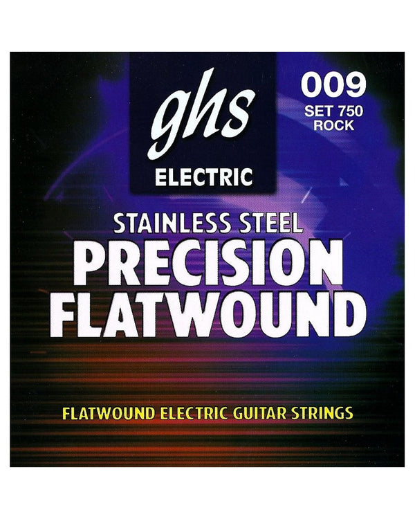 GHS 750 Precision Flatwound Stainless Steel Ultra Light Electric Guitar Strings