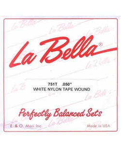"La Bella 751T White Nylon Single ""G"" Bass String"
