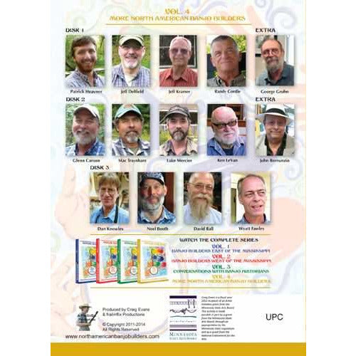 DVD - Conversations with North American Banjo builders - Vol. 4: More North American Banjo Builders