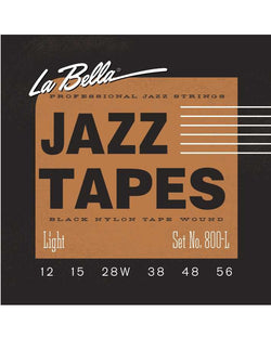 La Bella 800L Jazz Tapes Black Nylon Tape Wound 6-String Electric Guitar Strings