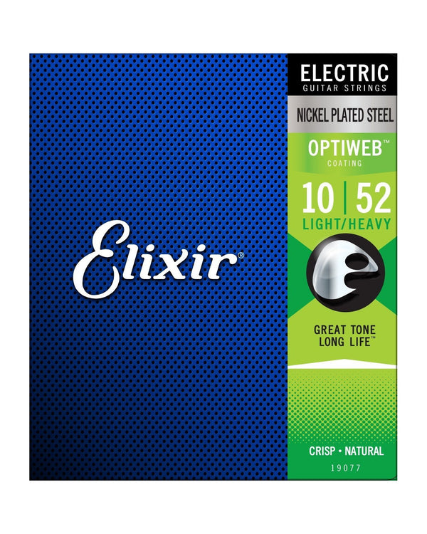 Elixir 19077 Optiweb Coated Nickel Plated Steel Light/Heavy 6-String Electric Guitar Strings
