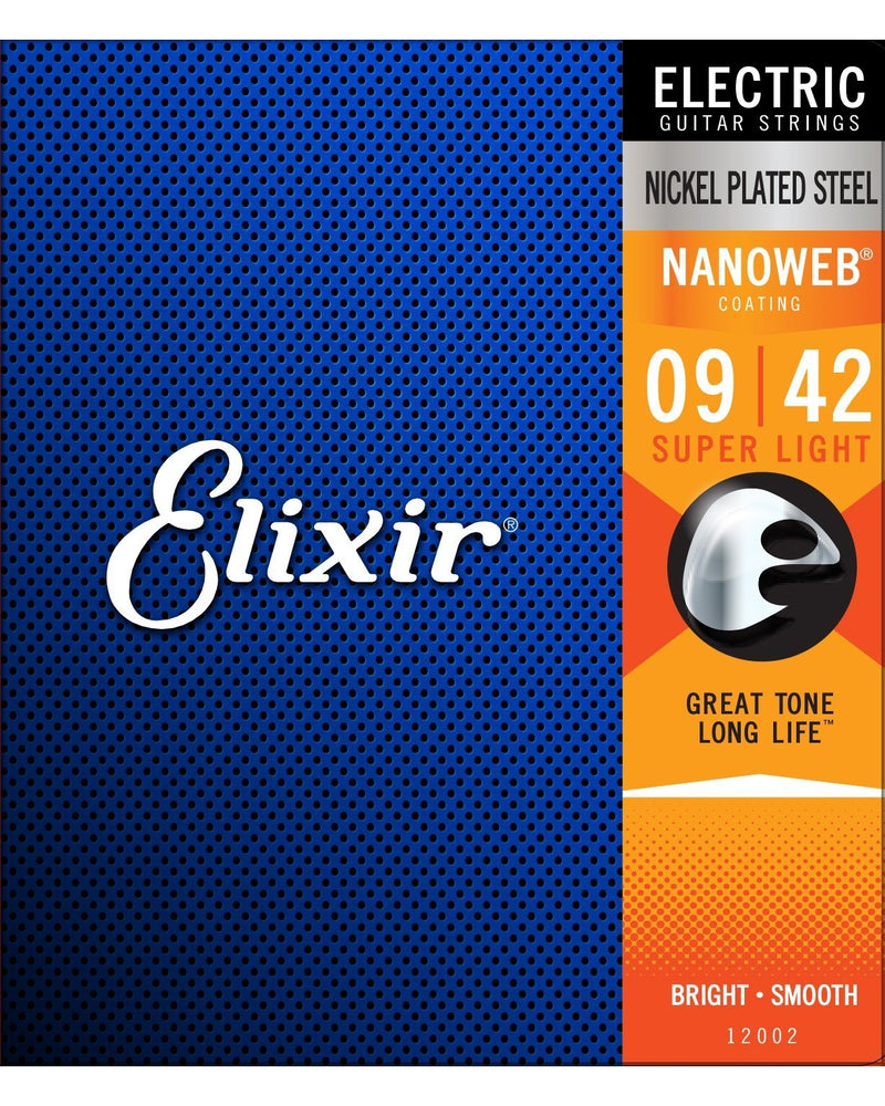 Elixir 12002 Nanoweb Super Light Electric Guitar Strings