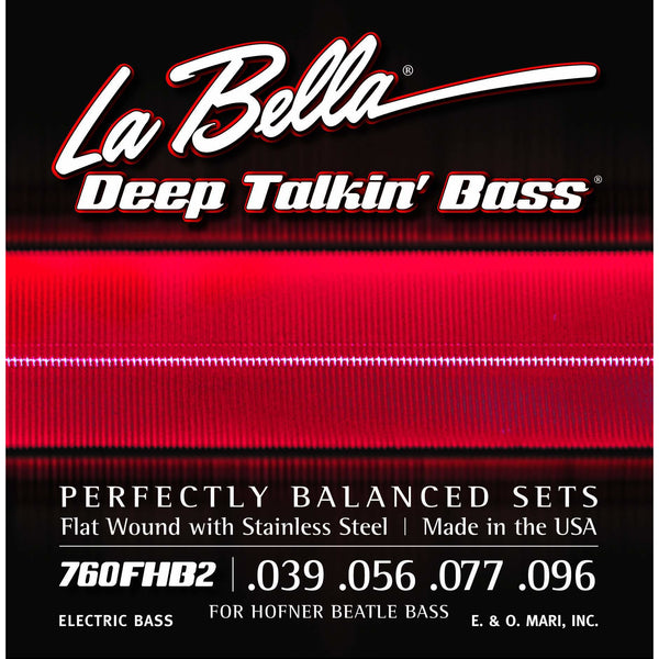 La Bella 760-FHB2 Flat Wound Hofner Beatle Bass Strings