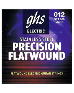 GHS 900 Precision Flatwound Stainless Steel Light Gauge Electric Guitar Strings