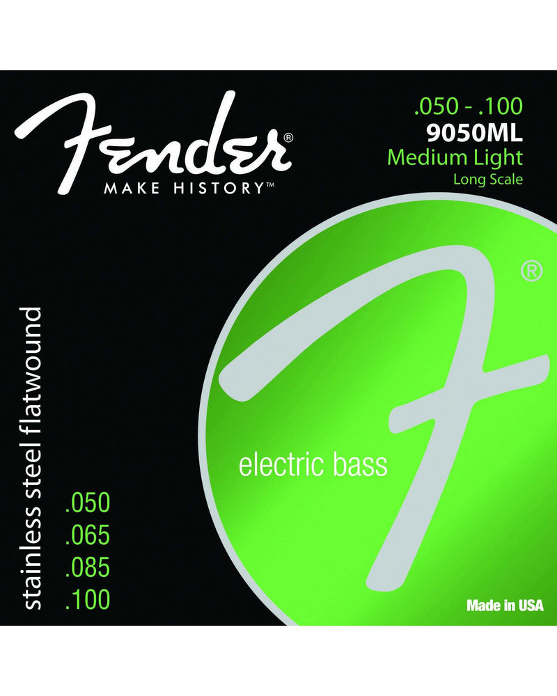 Fender 9050ML Stainless Steel Flatwound Light Electric Bass Strings
