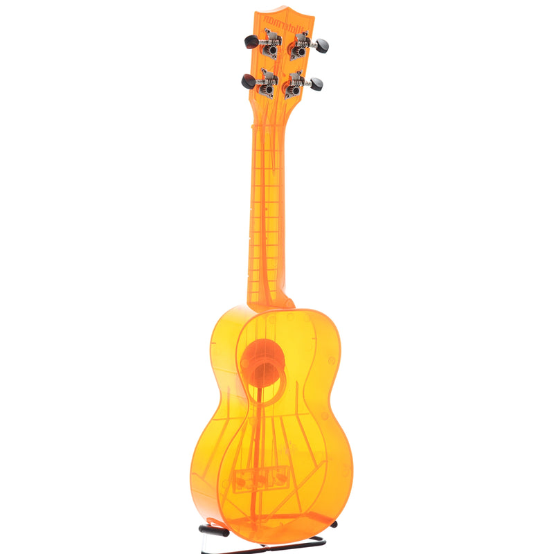 Kala Waterman Series KA-SWF Soprano Ukulele, Fluorescent Orangesicle with Carrying Bag