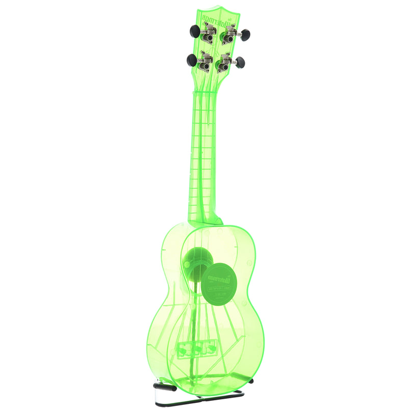 Kala Waterman Series KA-SWF Soprano Ukulele, Fluorescent Sour Apple with Carrying Bag
