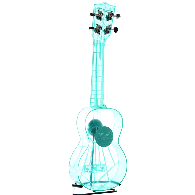 Kala Waterman Series KA-SWF Soprano Ukulele, Fluorescent Blue Raspberry with Carrying Bag