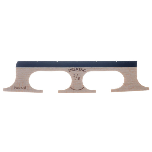 "Deering 5/8"" Smile Banjo Bridge, with Curved Feet"