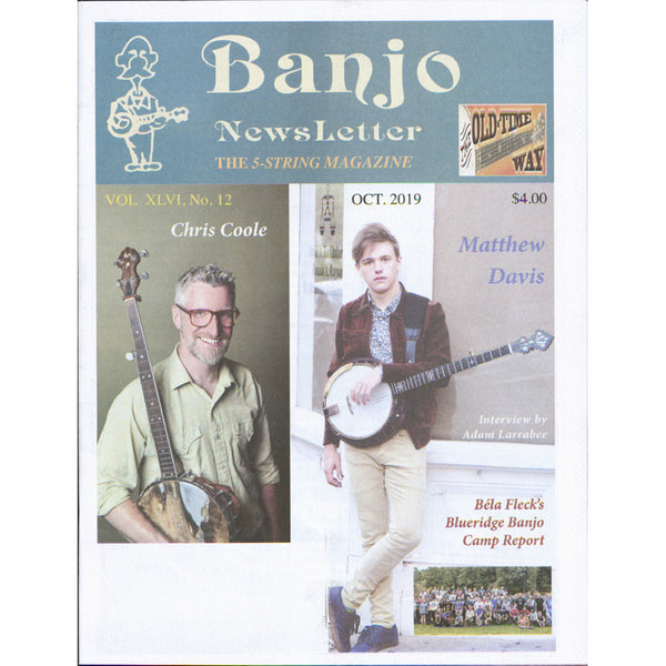 Banjo Newsletter - October 2019 Vol XLVI, No. 12