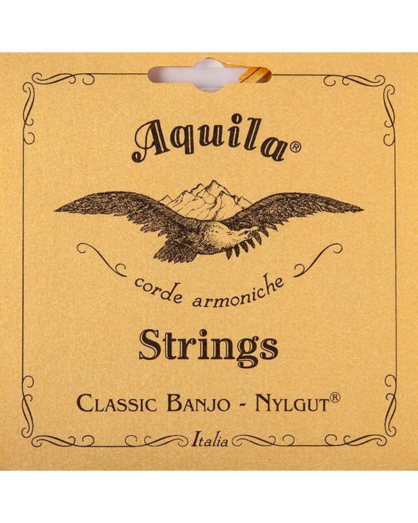 Aquila 6B 5-String Banjo String Set, Light Tension, Nylgut