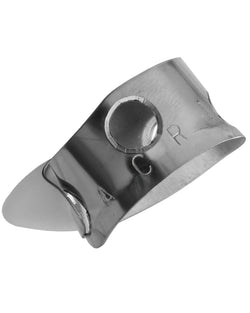 Acri Thumbpick, Stainless Steel with Delrin Blade, One Adjustable Size