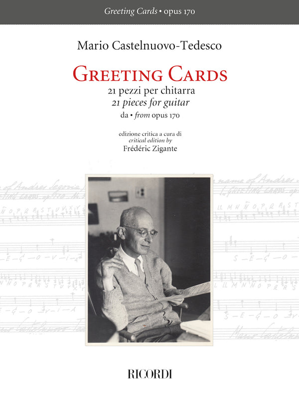 Greeting Cards - 21 Pieces for Guitar from Opus 170