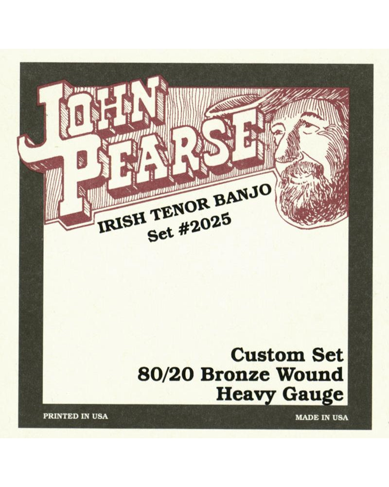 John Pearse 2025H Custom Heavy 4-String Tenor Banjo Strings