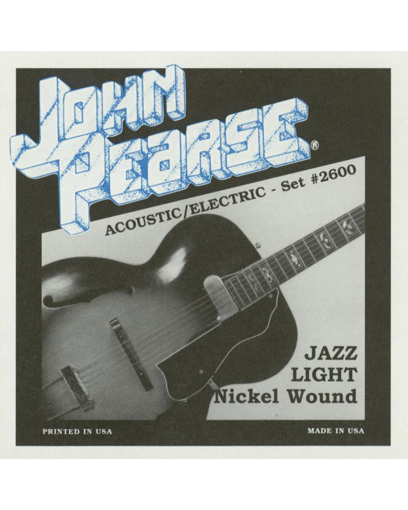 John Pearse 2600 Jazz Light Acoustic/Electric Guitar Strings
