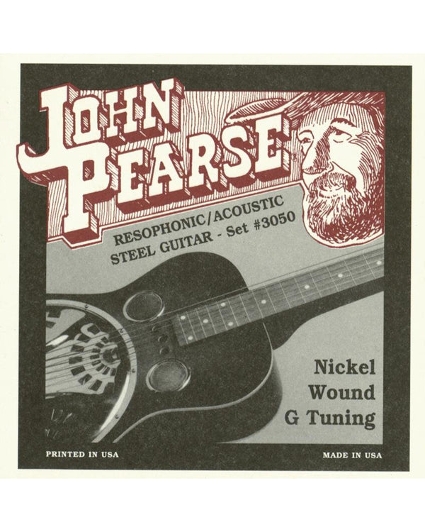 John Pearse 3050 G Tuning Uncle Josh Resophonic Guitar Strings
