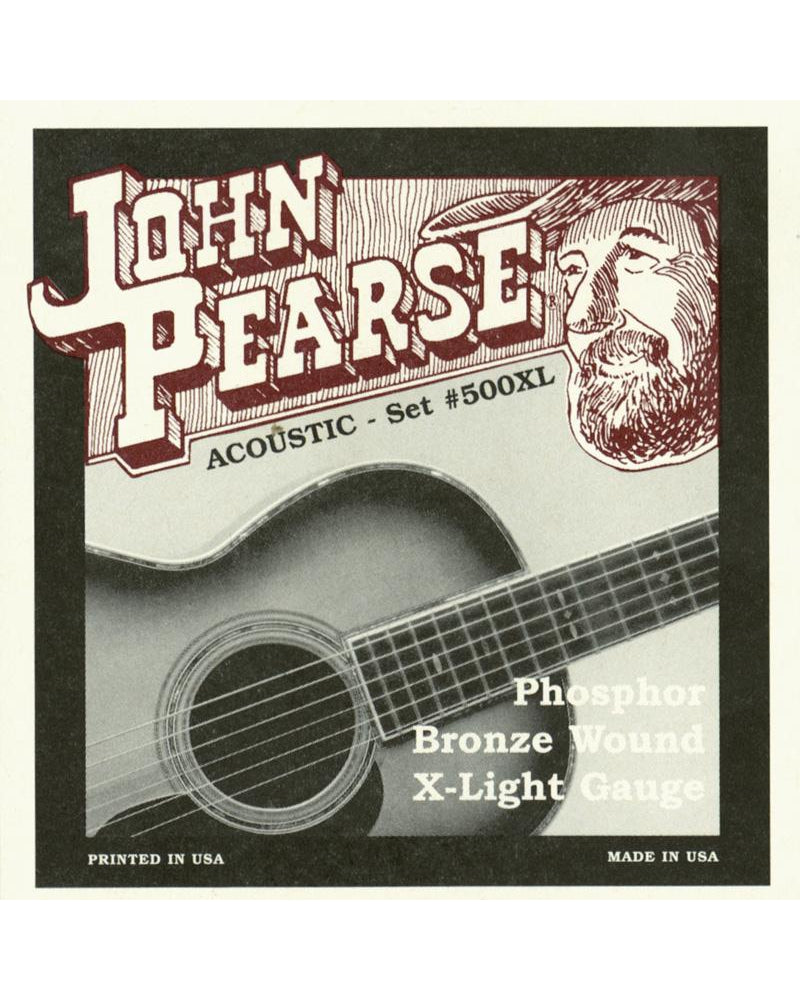 John Pearse 500XL Phosphor Bronze Extra Light Acoustic Guitar Strings