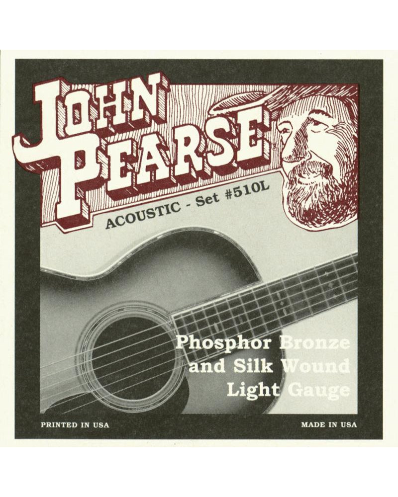 John Pearse 510L Phosphor Bronze and Silk Light Acoustic Guitar Set
