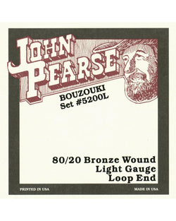 John Pearse 5200LP 80/20 Bronze Irish Bouzouki Strings, Loop End