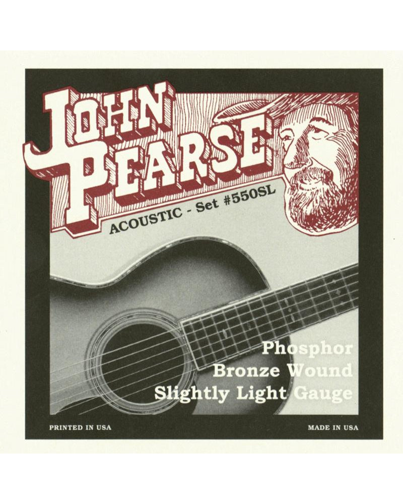 John Pearse 550SL Phosphor Bronze Slightly Light Acoustic Guitar Strings