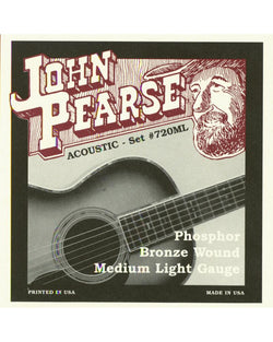 John Pearse 720ML Phosphor Bronze Medium/Light Acoustic Guitar Strings