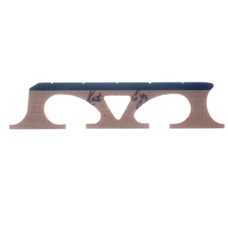 "Kat Eyz Old Wood Banjo Bridge, Crowe Spaced, 5/8"" High"