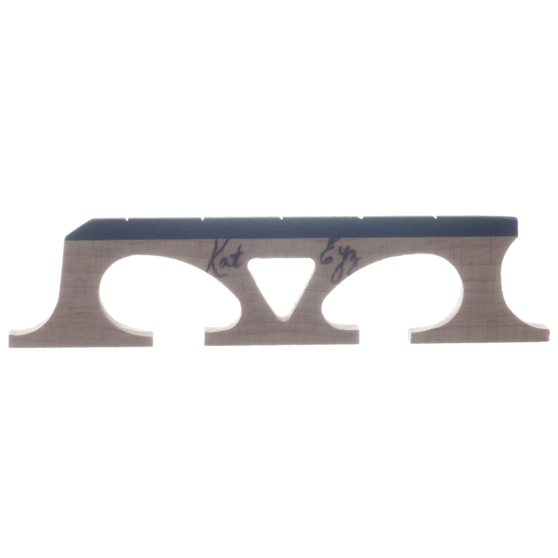 "Kat Eyz Old Wood Banjo Bridge, Standard Spaced, 11/16"" High"