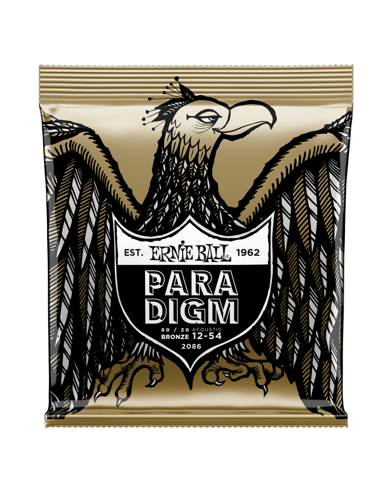Ernie Ball 2086 Paradigm Medium Light 80/20 Bronze Acoustic Guitar Strings