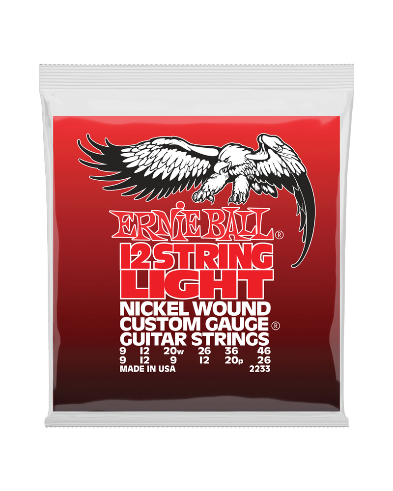 Ernie Ball 2233 Nickel Wound Light 12-String Electric Guitar Strings