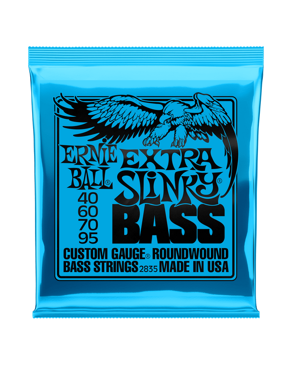 ERNIE BALL 2835 ROUNDWOUND NICKEL EXTRA SLINKY GAUGES .040-.095 4-STRING ELECTRIC BASS GUITAR STRIN