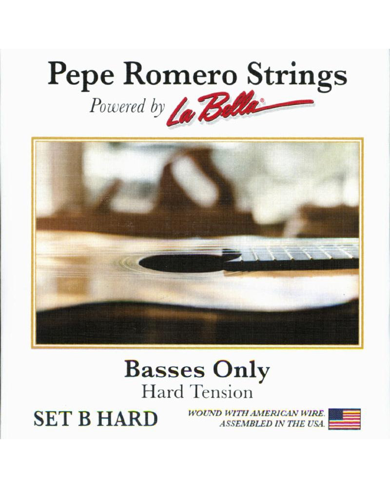 "Pepe Romero Strings ""Basses Only"" (3 Strings) Guitar String Set, Hard Tension"