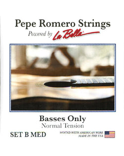 "Pepe Romero Strings ""Basses Only"" (3 Strings) Guitar String Set, Normal Tension"