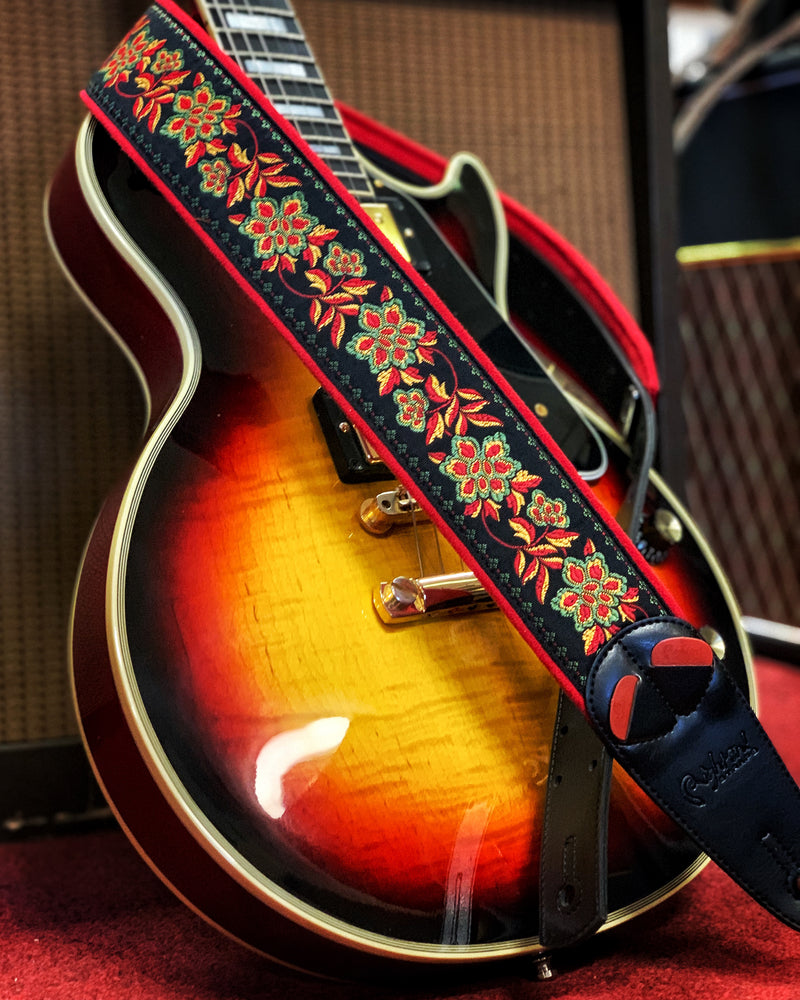 RIGHT ON! STRAPS MOJO ROSES GUITAR STRAP