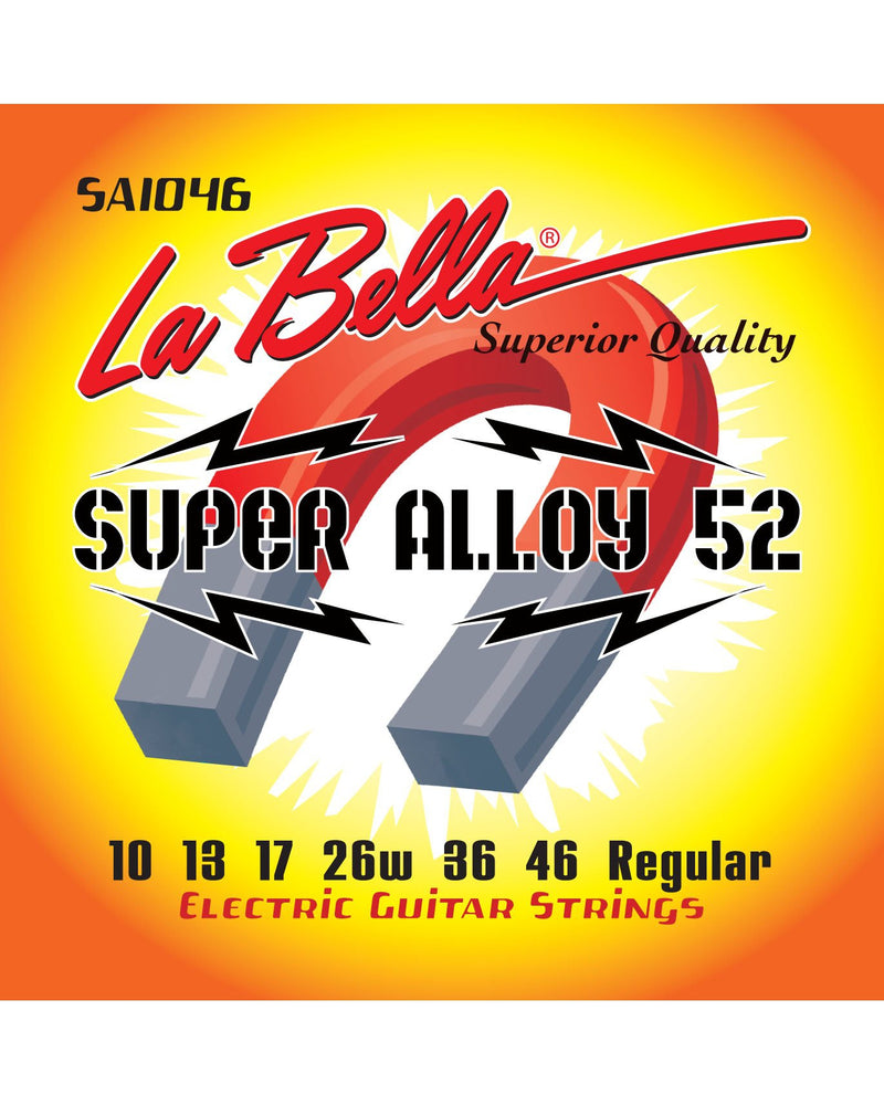La Bella SA1046 Super Alloy 52 Series Regular Gauge 6-String Electric Guitar Strings