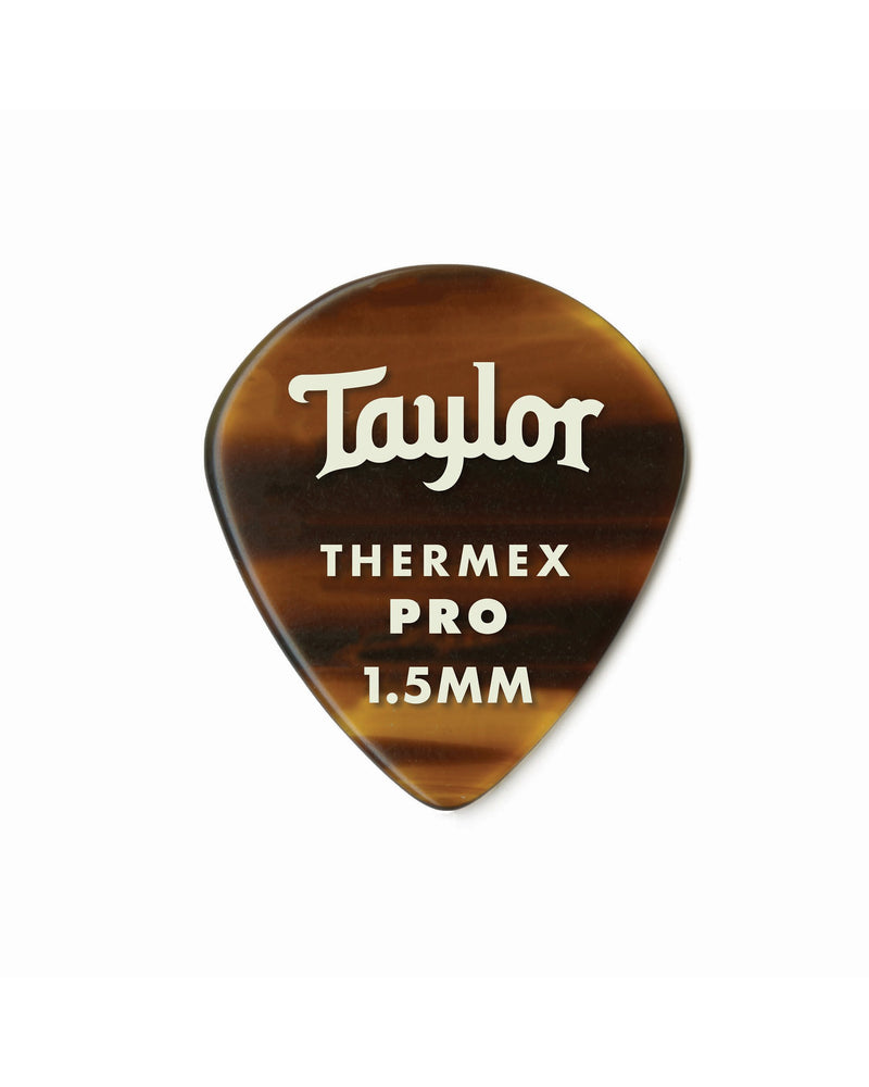 Taylor 651 Thermex Pro Picks, Tortoise Shell, 1.50mm, 6-Pack