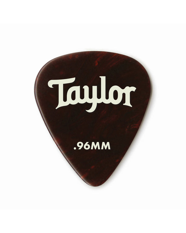 Taylor Celluloid 351 Picks, Tortoise Shell, .96mm, 12-Pack