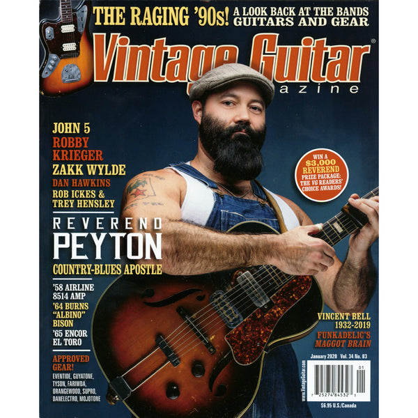 Vintage Guitar Magazine - January 2020