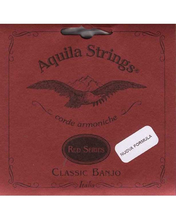 Aquila 11B 5-String Banjo Set, Red Series, Normal Tension, Metal Wound 4th String, Clearance Priced