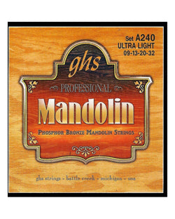 GHS A240 Phosphor Bronze Ultra Light Gauge Mandolin Strings