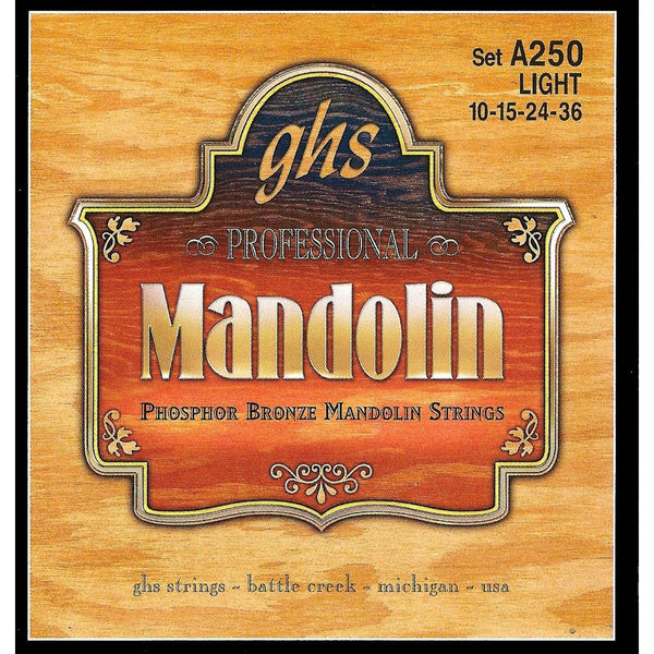 GHS A250 Phosphor Bronze Light Gauge Mandolin Strings