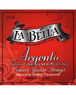 La Bella Argento SMH Medium Hard Tension Extra Fine Silver-Plated Classical Guitar Strings