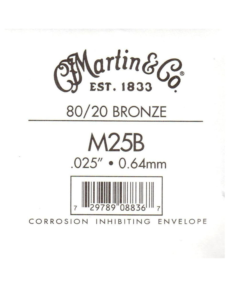Martin Bronze Wound Ball End Single String .025
